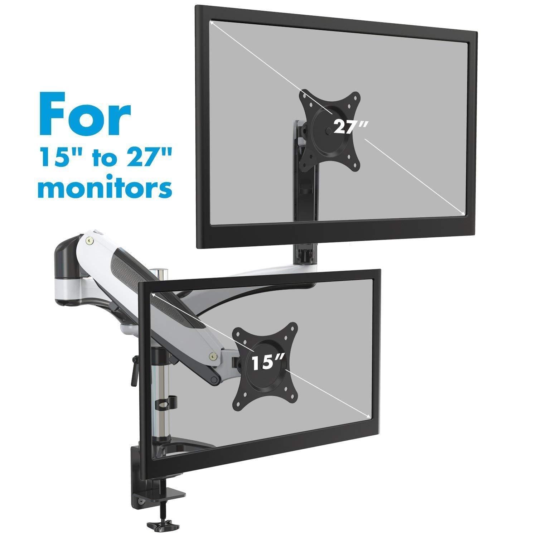 Perlegear PGDSK1-DE Soporte con movimiento completo articulado giratorio para monitor imagen