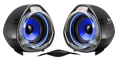 Woxter Big Bass 70 - Altavoces Multimedia (2.0, Potencia 15W, con terminación Bicolor) Color Negro y Azul imagen