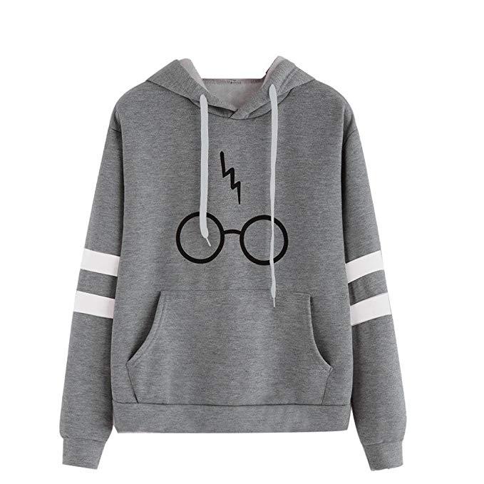 Sudadera para Mujer Gafas De Harry Potter con capucha imagen
