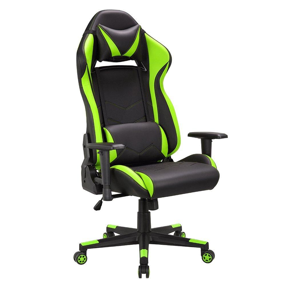 Silla Racing Gaming de Escritorio (verde/negro) imagen