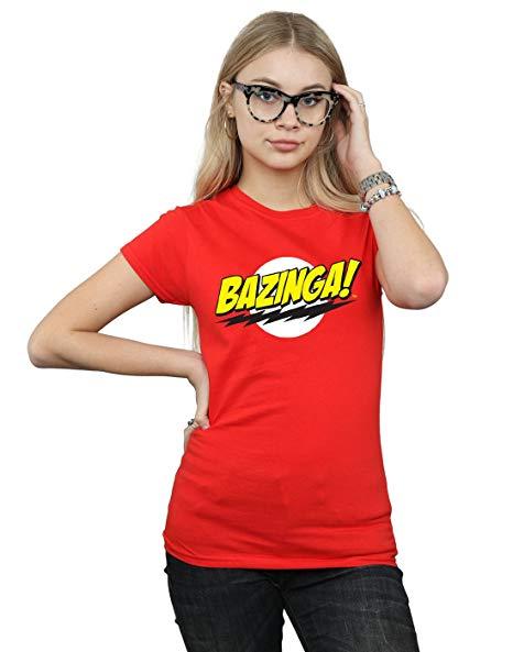 Absolute Cult The Big Bang Theory Mujer Sheldon Bazinga Camiseta imagen