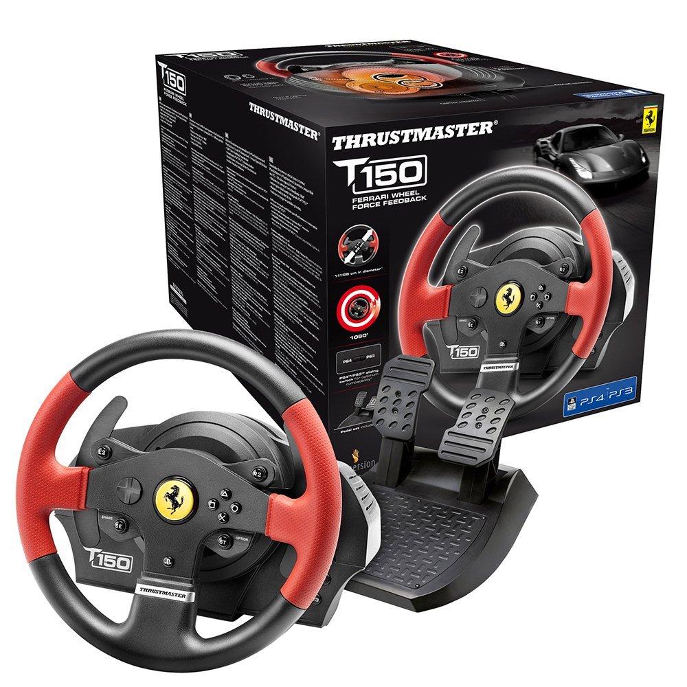 Thrustmaster T150 FERRARI EDITION - Volante - PS4 / PS3 / PC - Force Feedback - Licencia Oficial Ferrari imagen