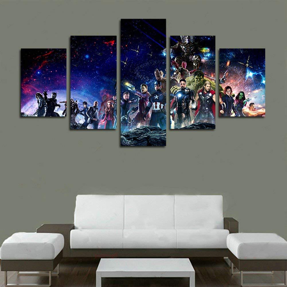 YspgArt66 Lienzo de Pintura Impresa, 5 Piezas, Diseño Vengadores Infinity War imagen