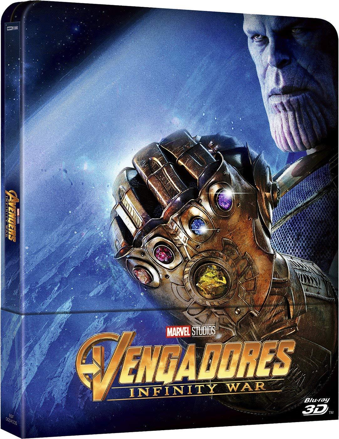 3D Steelbook Vengadores Infinity War [Blu-ray] imagen