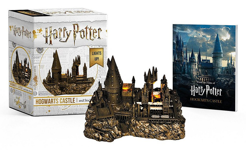 Harry Potter Hogwarts Castle and Sticker Book: Lights Up! (Miniature Editions) imagen