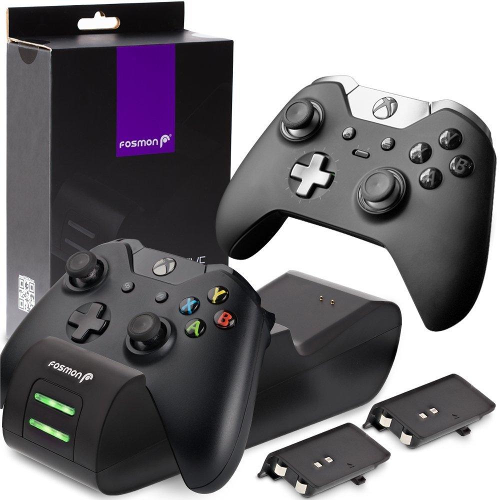 Fosmon Doble Estación de Carga Rápida para Mando Xbox One con 2 Baterías Recargables 1000mAh imagen