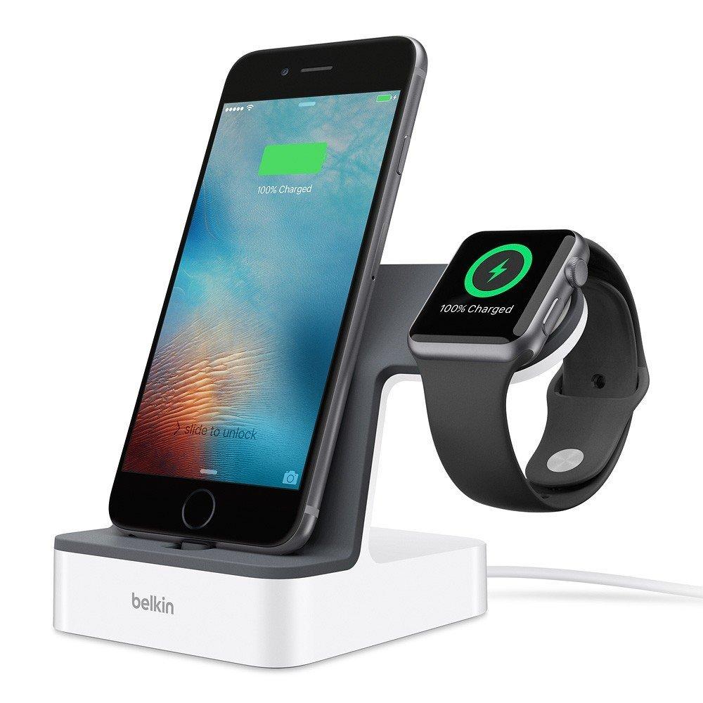 Belkin Powerhouse - Estación de carga dual con cable de 1,2 m para iPhone y Apple Whatch imagen