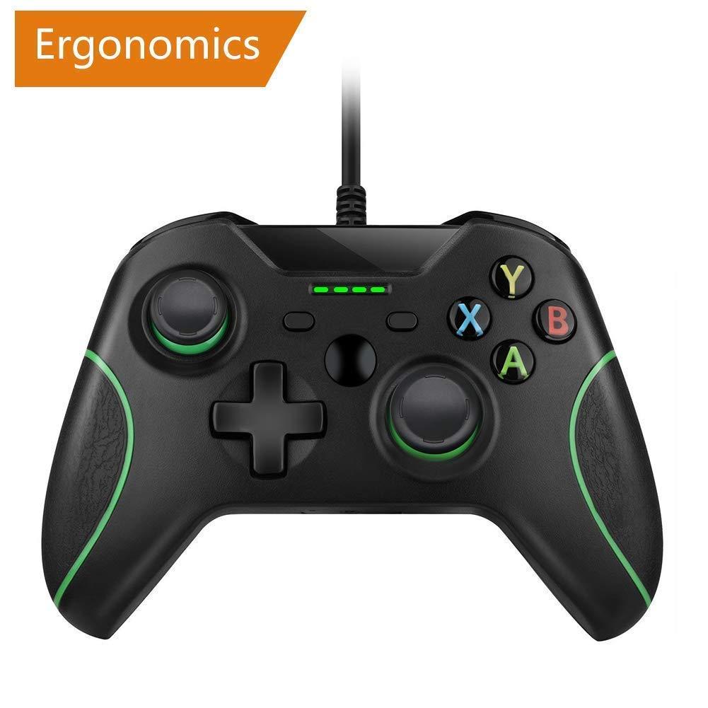 RegeMoudal Xbox One Mando Controlador con 2,4m Cable USB Joystick Doble Vibración imagen